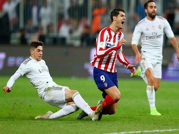 Simeone Klaim Kemenangan Real Madrid Ditentukan Pelanggaran Valverde Pada Morata