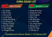 China Umumkan Skuad Untuk Kejuaraan Beregu Asia 2020