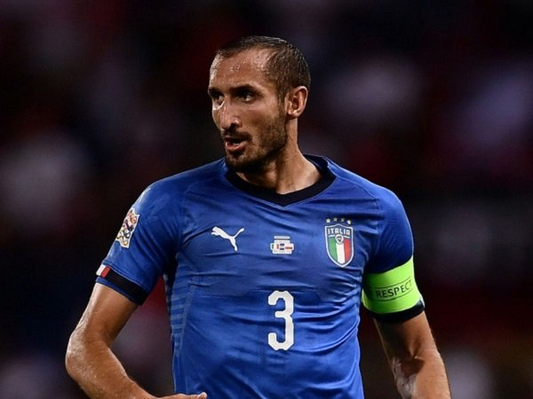 Mancini Andalkan Chiellini di Timnas Italia pada Piala Eropa 2020