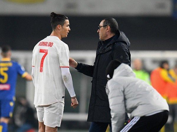 Sarri Beri Indikasi untuk Istirahatkan Ronaldo Saat Juventus Hadapi Milan