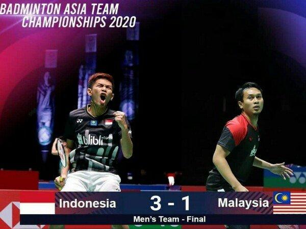 Juara! Kandaskan Malaysia, Tim Putra Indonesia Pertahankan Gelar Kejuaraan Beregu Asia 2020