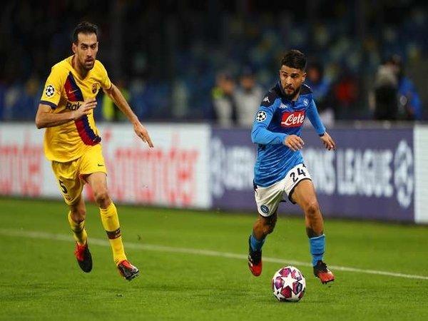 Napoli vs Barcelona: Insigne Kecewa Timnya Cuma Raih Hasil Imbang