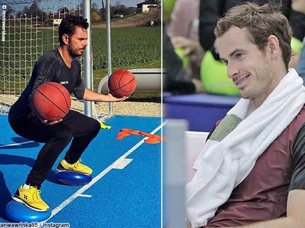Lihat Sesi Latihan Stan Wawrinka, Begini Komentar Andy Murray