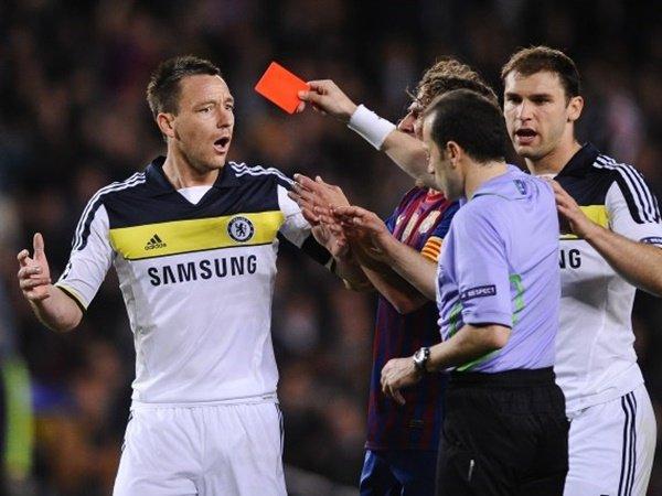 Kartu Merah Lawan Barcelona, Momen Terburuk Terry Di Chelsea