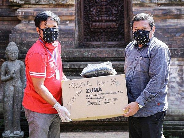 Aksi Bali United Lawa Corona Berlanjut, Kali Ini Puluhan Ribu Masker Disumbangkan