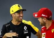 Ricciardo Klaim Vettel Masih Bisa Tampil Kompetitif
