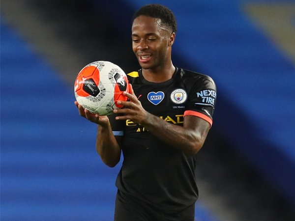 Gembiranya Raheem Sterling Usai Cetak Hat-trick Bagi Man City