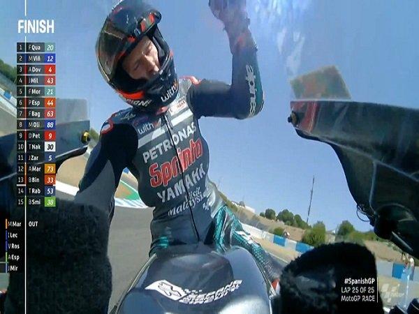 Hasil MotoGP Spanyol: Quatararo Menangkan Seri Pembuka, Marquez Out