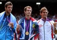 Reaksi Roger Federer Ketika Juan Martin Del Potro Klaim Medali Olimpiade 2012