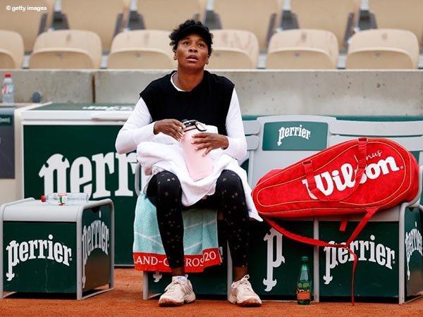 Venus Williams tak mampu melewati tantangan pertama di French Open 2020