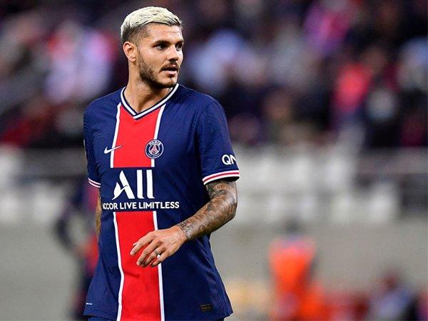 Mauro Icardi saat tampil di laga kontra Reims.