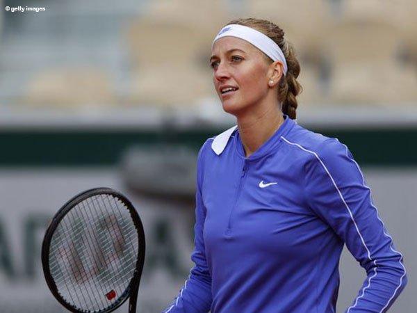 Petra Kvitova lalui rintangan kedua di French Open 2020