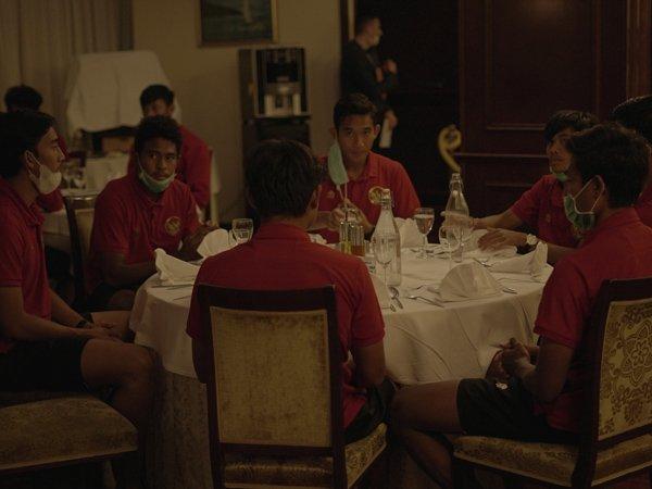Skuat timnas Indonesia U-19 makan malam di Kota Split