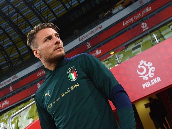 Mancini membela rekor Immobile bersama timnas Italia