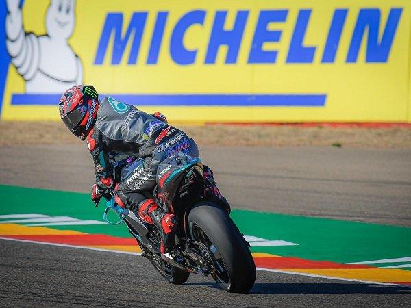 Fabio Quartararo kecewa gagal petik poin di GP Aragon.