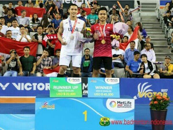 Jonatan Christie dan Anthony Ginting Ditargetkan Final Asia Tour