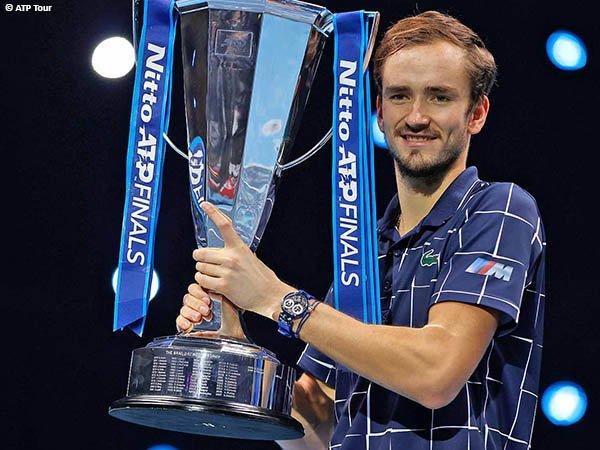 Daniil Medvedev kantongi gelar kedua pada musim 2020 di ATP Finals, London