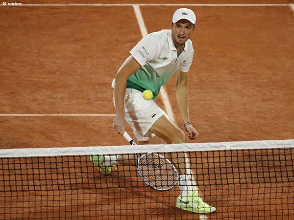 Daniil Medvedev belum beruntung di French Open dalam empat musim terakhir