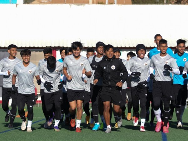 Skuat timnas Indonesia U-19 menjalani latihan perdana di Spanyol