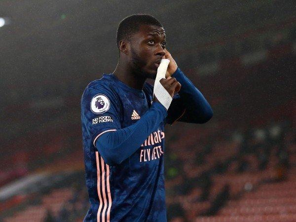 Nicolas Pepe mencetak satu gol ke gawang Southampton