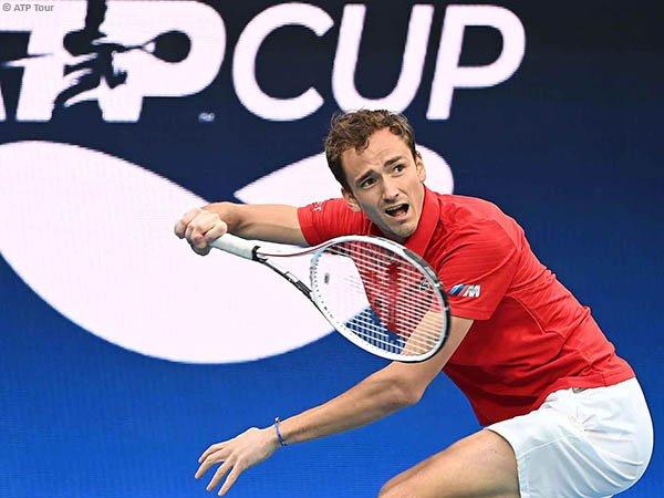 Jumpa di ATP Cup, Daniil Medvedev masih terlalu tangguh bagi Diego Schwartzman
