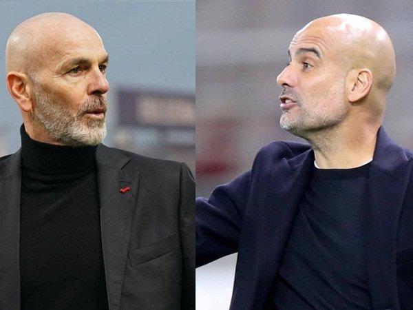 Stefano Pioli dan Pep Guardiola
