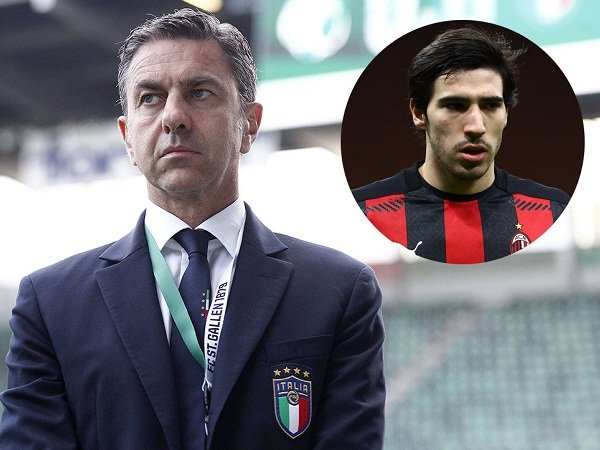 Alessandro Costacurta dan Sandro Tonali