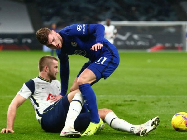 Eric Dier jegal Timo Werner