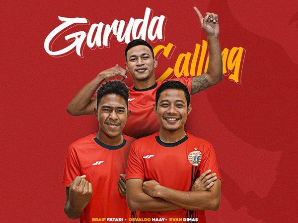 Tiga orang pemain Persija Jakarta yang dipanggil TC timnas Indonesia