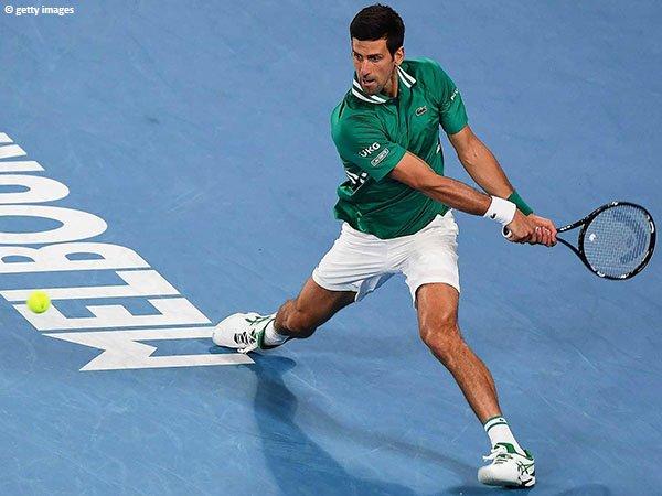 Novak Djokovic hanya kehilangan enam game di babak pertama Australian Open 2021