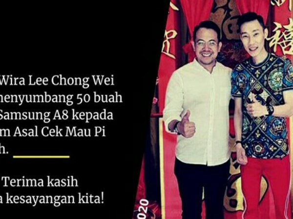 Lee Chong Wei Donasikan 50 Tablet ke Siswa Yang Membutuhkan