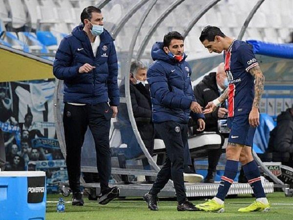 Mauricio Pochettino memastikan Angel Di Maria absen melawan Barcelona.
