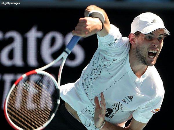 Dominic Thiem melaju ke babak ketiga Australian Open 2021