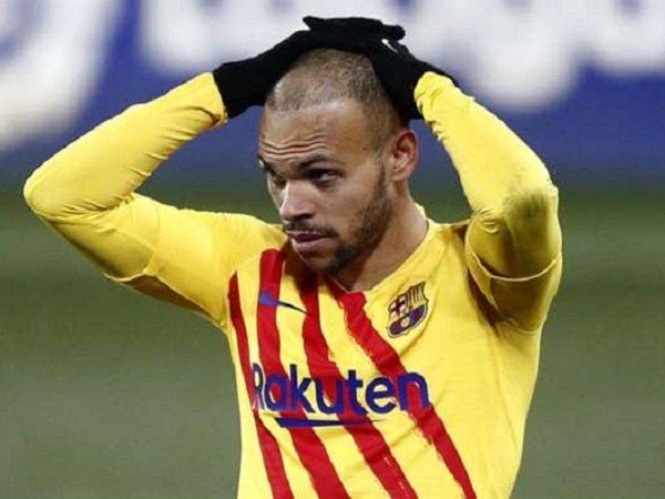 Penyerang Barcelona, Martin Braithwaite. (Images: Getty)