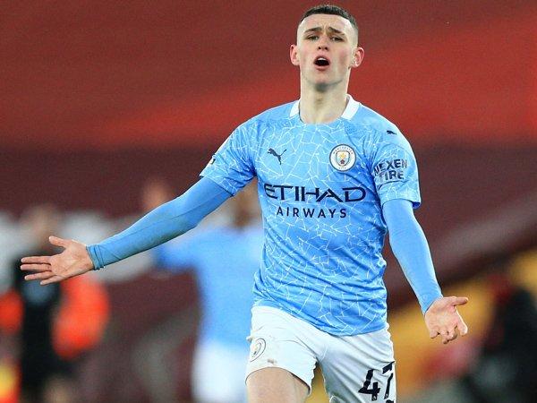 Gelandang Manchester City, Phil Foden.