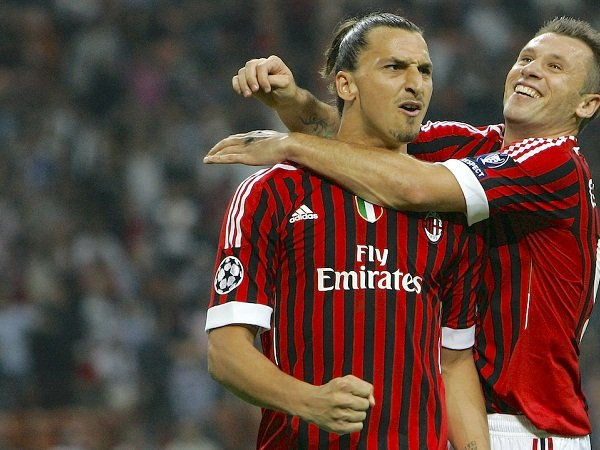 Zlatan Ibrahimovic dan Antonio Cassano