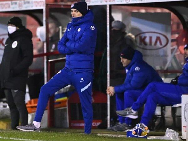 Thomas Tuchel merasa Chelsea beruntung bisa menang kontra Barnsley.