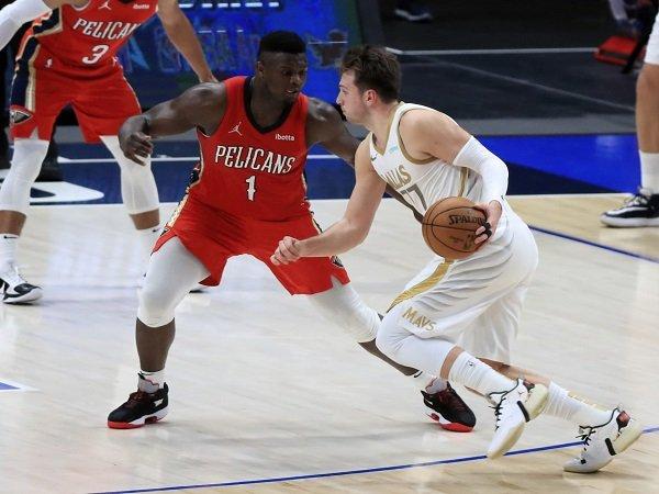 Luka Doncic jadi pahlawan kemenangan Dallas Mavericks atas New Orleans Pelicans.