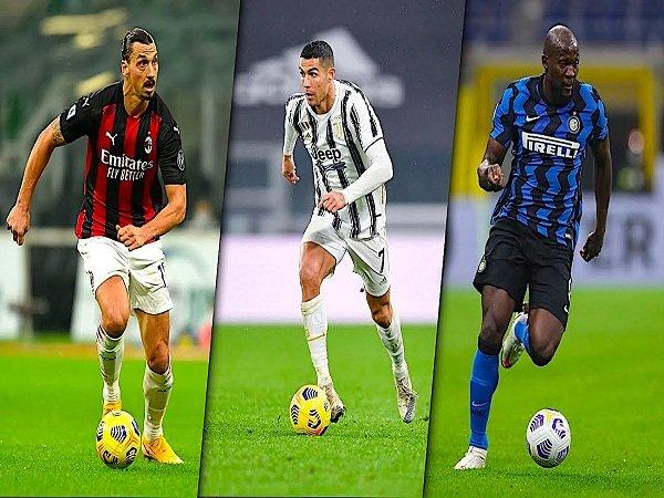 Ibrahimovic, Ronaldo, Lukaku
