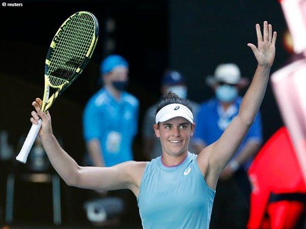 Jennifer Brady tantang Naomi Osaka di final Australian Open 2021