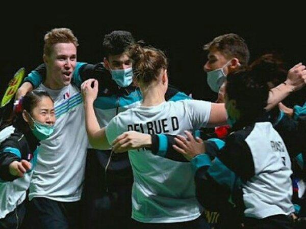 Perancis ke Final Kejuaraan Beregu Campuran Eropa 2021