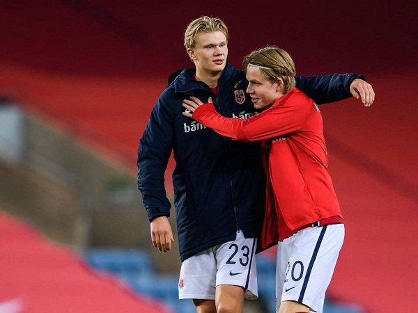 Erling Haaland dan Jens Petter Hauge