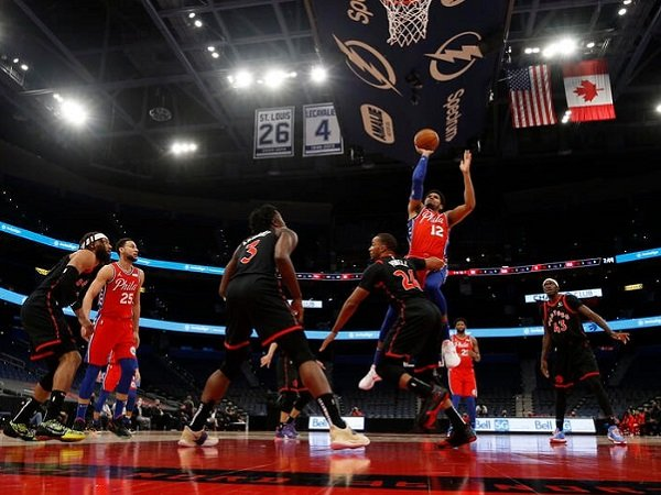 Pemain Sixers, Tobias Harris saat melawan Toronto Raptors (Images: Getty)