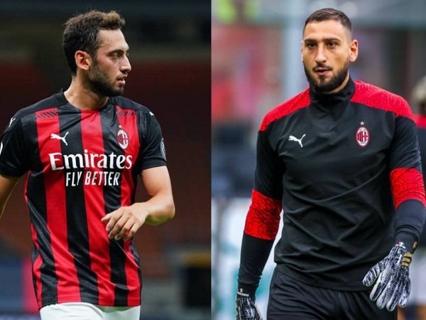 Duo bintang Milan Hakan Calhanoglu dan Gianluigi Donnarumma
