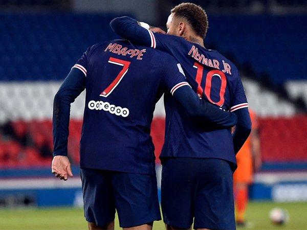 Neymar dan Kylian Mbappe.