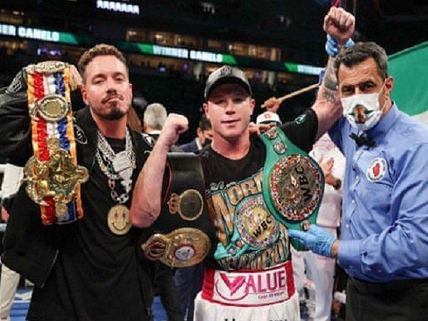 """Petinju Saul """"Canelo"""" Alvarez berhasil pertahankan gelar juaranya. (Images: Getty)"""