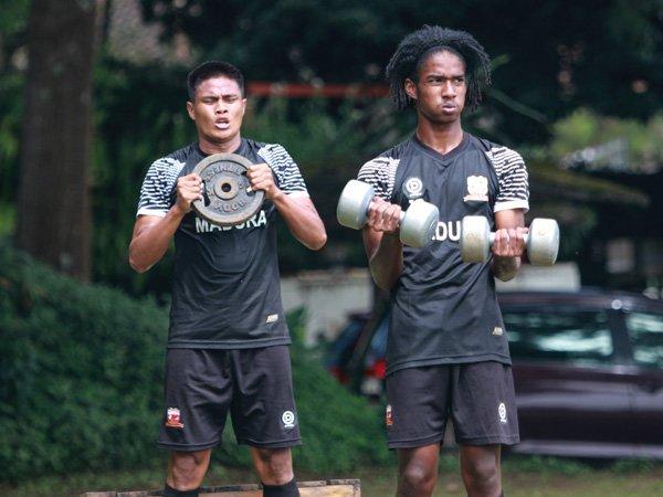 Salah seorang pemain muda Madura United, Ronaldo Kowateh terus dipantau RD