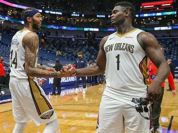 Duet andalan New Orleans Pelicans, Brandon Ingram dan Zion Williamson.