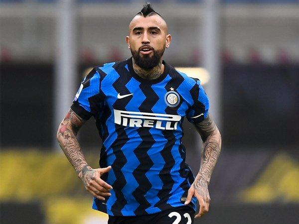 Gelandang Inter Milan, Arturo Vidal.