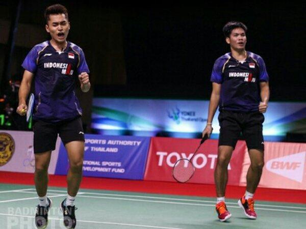 Dua Wakil Ganda Putra Indonesia Lolos 16 Besar Swiss Open 2021